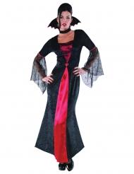 Mustapunainen vampyyriasu naiselle