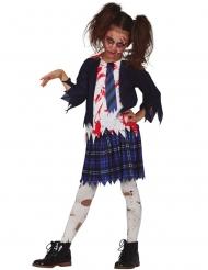 Zombie/koulaisen naamiaisasu tytölle