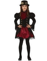 Punainen steampunk-naamiaisasu tytölle