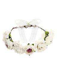Valkoinen kukkaseppele 17 cm