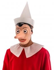 Pinocchio™- muovinen naamari irroitettavalla nenällä aikuiselle