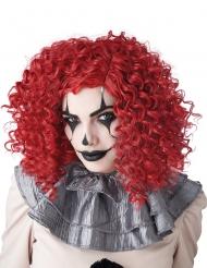 Punainen klovnin peruukki aikuiselle