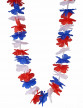 Collier hawaï tricolore supporter France adulte