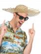 Chapeau de paille Hawaï adulte-1