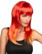 Perruque longue cheveux rouges femme