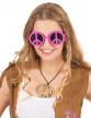 Lunettes hippie rose adulte-1