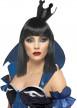 Mini chapeau couronne noire femme