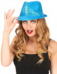 Chapeau borsalino à sequins bleu clair adulte-1