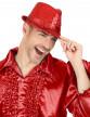 Chapeau borsalino à sequins rouge adulte-1
