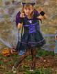 Déguisement chauve-souris noire et violette fille-3