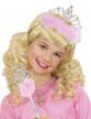 Diadème princesse avec fourrure rose-1