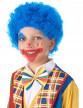 Perruque clown enfant bleue