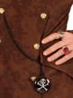 Bijou chaine médaillon pirate noir adulte