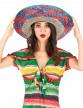 Sombrero Mexicain bordure rouge et bleu adulte-1