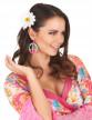 Boucles d'oreilles peace & love multicolores plastique adulte-1