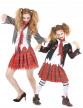 Déguisement de couple écolière Zombie Mère/Fille Halloween