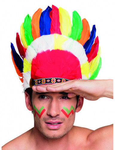 Värikäs intiaanipäähine aikuisille