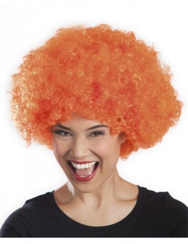 Oranssi afroperuukki aikuiselle-1