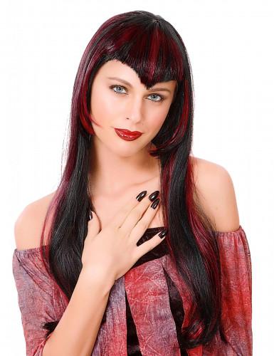 Naisten punainen peruukki Vampyyri