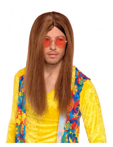 Ruskea hippiperuukki