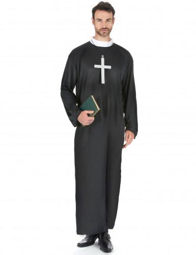 Miesten klassinen naamiaisasu pappi