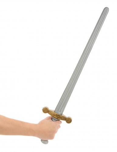 Muovinen keskiaikainen ratsusotilaan miekka-1