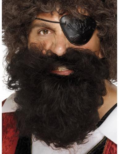 Piraattiparta ruskea