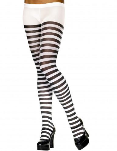 Mustavalkoiset sukkahousut aikuisille