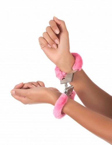Pinkit pörröiset käsiraudat-1