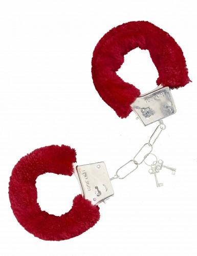 Punaiset karvaiset käsiraudat
