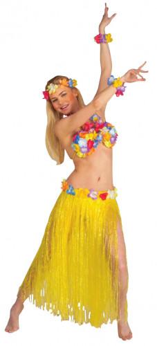 Aikuisten keltainen havaijilaissetti