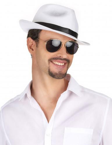 Valkoinen gangsterin hattu aikuisille-1
