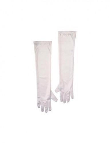 Pitkät valkoiset hansikkaat lapsille