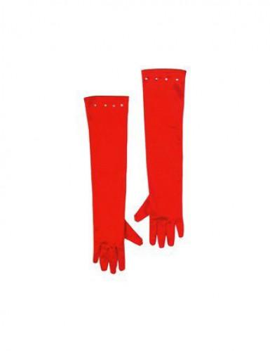 Pitkät punaiset hanskat lapselle