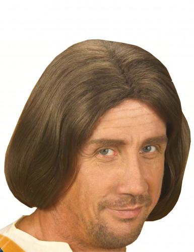 Miesten ruskea peruukki