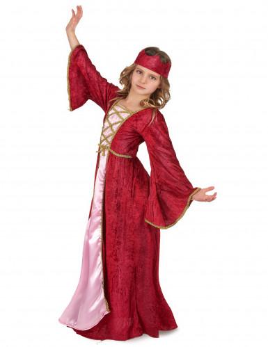Keskiaikainen kuningatar -asu lapsille-1