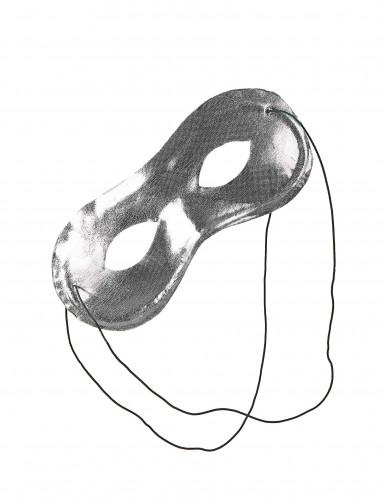 Aikuisten metallinhohtoinen hopeinen naamio-1