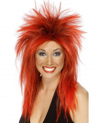 Rokkarin punainen peruukki naisille