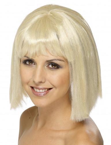 Vaalea peruukki otsatukalla