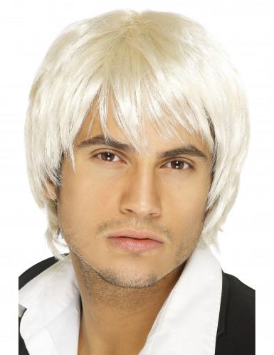 Lyhyt, vaalea peruukki miehelle
