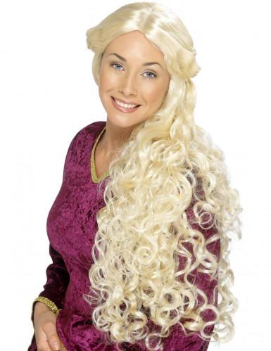 Naisten pitkä vaalea peruukki