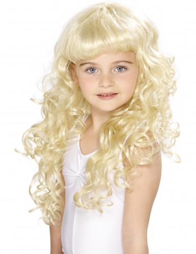Vaalea prinsessaperuukki lapsille