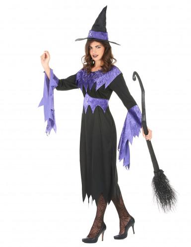 Lila lentäjä - Naisten Halloween-noidan asu-1