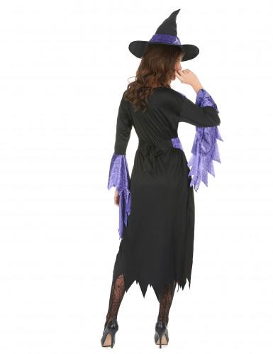 Lila lentäjä - Naisten Halloween-noidan asu-2