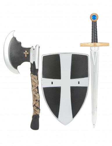 Keskiaikaisen taistelijan setti lapsille