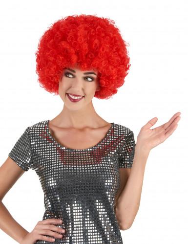 Aikuisten punainen afroperuukki