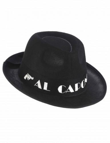 Musta Al Capone huopahattu aikuiselle