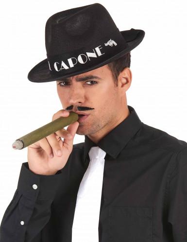 Musta Al Capone huopahattu aikuiselle-1