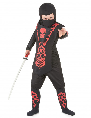 Punamusta ninjan asu lapsille
