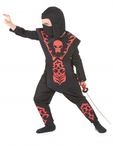 Punamusta ninjan asu lapsille-1